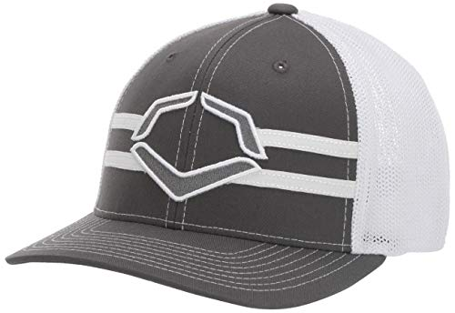 Wilson Sporting Goods WTV1035344 Grandstand Flexfit Hat, Charcoal/White, Small/Medium (7-7 1/4)