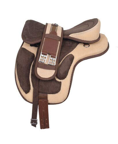 Leather Straps Size 16 to 18 Inches Seat Available Manaal Enterprises Synthetic Treeless Black FREEMAX English Horse Saddles Tack Get Matching Girth