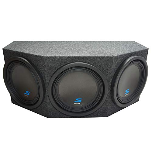 "Universal Fit Alpine S-W12D2 Type S Car Audio Triple 12"" Subwoofers Custom Sub Box Enclosure Package New"