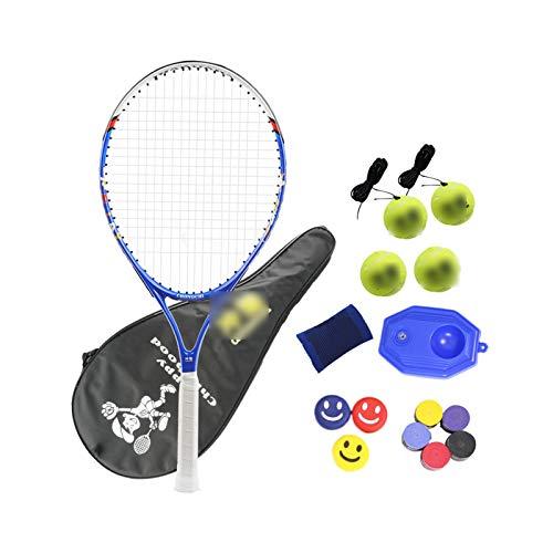 Mikelabo - Raqueta de tenis para niños, 27 unidades, color azul