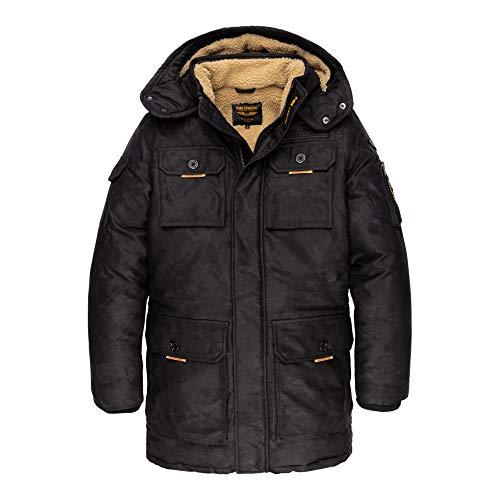 PME Legend Long Jacket Camou Pilot - Winterjacke, Größe_Bekleidung:M, Farbe:Black