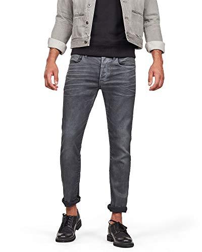 G-STAR RAW 3301 Slim Fit Jeans Vaqueros, Dk Aged Cobler, 27W / 32L para Hombre