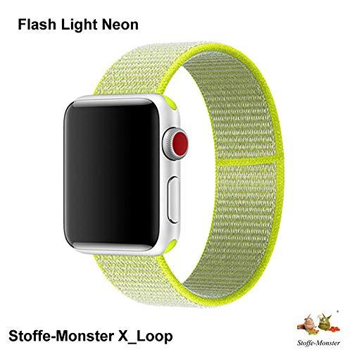 Stoffe-Monster X_Loop Watch Armband Sport Flash neon Light 42mm / 44mm