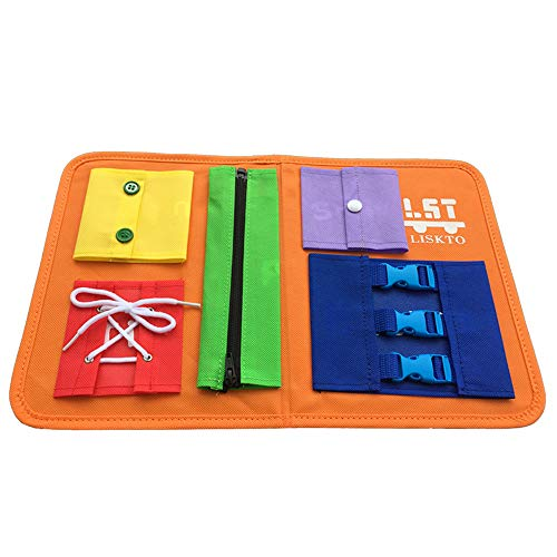 Busy Board Dress Learning Toys for Fine Motor Skills & Learn to Dress, Basic Life Skills Sensory...