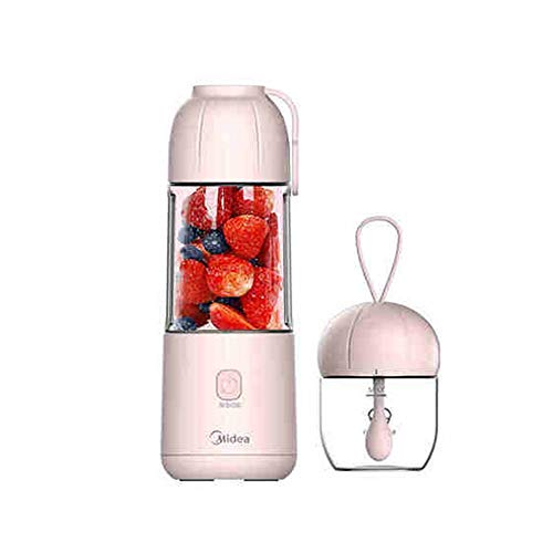 Fantastic Prices! Electric Fruit Juicer, Portable Juicer, 350 Ml Juicer With 4 Blades, 2200 MAh Lithium Battery, Hand-held Smoothie (pink)