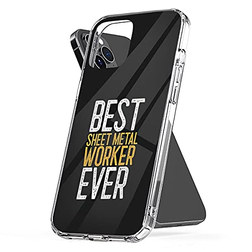 Phone Case Compatible with iPhone Best Scratch Sheet Waterproof Metal Accessories Worker Ever Worker Gift 6 7 8 Plus Se 2020 X Xr 11 Pro Max 12 Mini