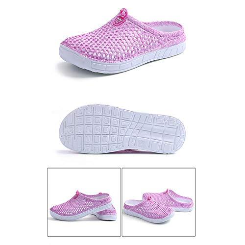 Chanclas Unisex Zapatos De Agujero Zuecos Casuales para Mujer Sandalias De Playa Transpirables Zapatillas De San Valentín Slip De Verano En Las Mujeres Chanclas Zapatos De CAS