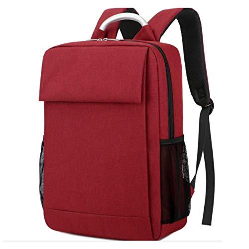 14-15,6 Zoll wasserdicht Frauen Männer Rucksack USB Aufladen größere Reise Schultaschen 15.6 Laptop Rucksack für Mackbook Pro Xiaomi HP-Wein rot_15,6 Zoll