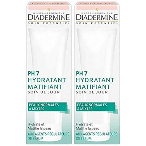 Diadermine - PH7 Soin de Jour Hydratant Matifiant - 50 ml lot de 2