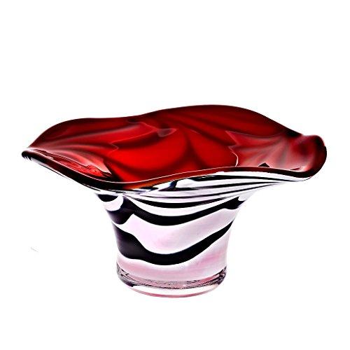 Schale Pavel transparent/rot Ø 20cm