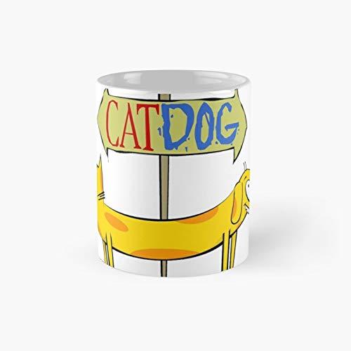 Catdog Classic Mug Birth-day Holi-day Gift Drink Home Kitchen
