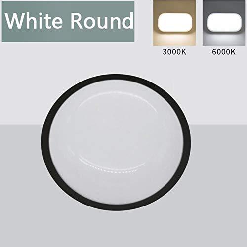 Ledlamp, waterdicht, plafond, IP65, voor badkamer in de open lucht, tuin, binnenplaats, ronde lamp, wandlamp