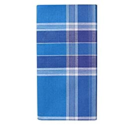 Generic Mens Cotton Lungi Blue Free Size