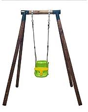 | MASGAMES | Columpio de madera individual KELUT| con silla de bebé | madera tratada | anclajes incluidos | uso doméstico |