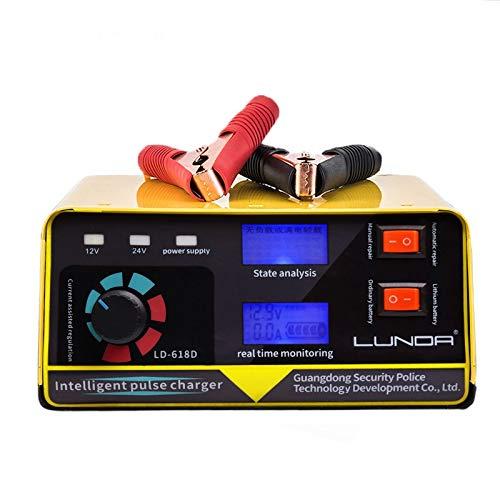 Arrancador De Coches 240W 12V / 24V 6 400Ah 20A cargador de batería automático de la motocicleta del coche Auto pilas de alimentación Accesorios de coches Arrancador De Baterias (Color : 1)