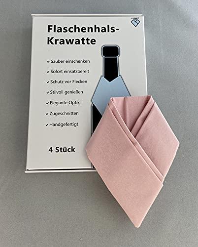 LUGART-Innovation Flaschenhals Krawatte   Bottle Tie   Flaschenhals Kragen   Flaschenhals Serviette (rosa)