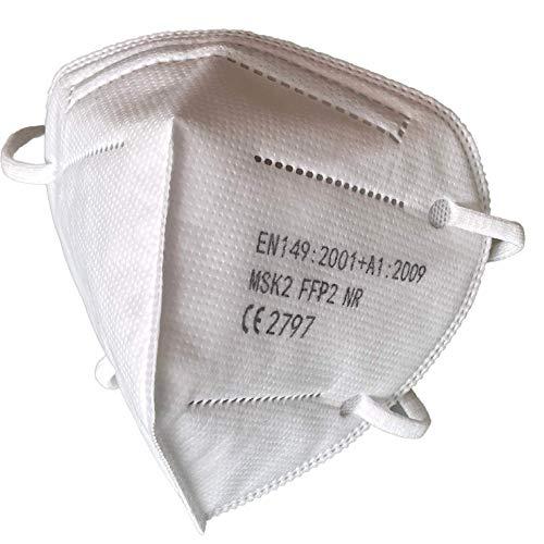 ISN mask2 - FFP2 / KN 95 Atemschutzmaske, staubdicht, einzeln verpackt - Atmungsaktive 5-Lagen-Maske CE-zertifiziert -10er Packung.