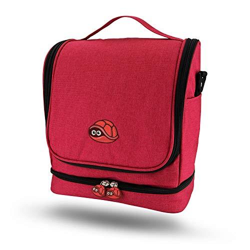 fridoli Kinderrucksack für Toniebox und Zubehör | rot | Akku Aufladen in der Toniebox Tasche | auch für Tigerbox Touch geeignet
