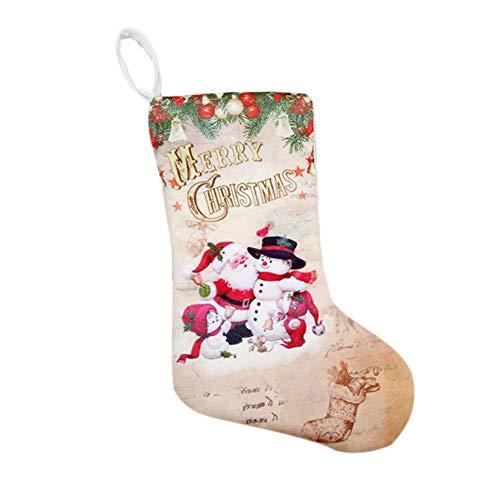 Morningtime kerstkous open haard hanger kerstdecoratie kerstman sneeuwman patroon druk kerstkous geschenktas decoratie