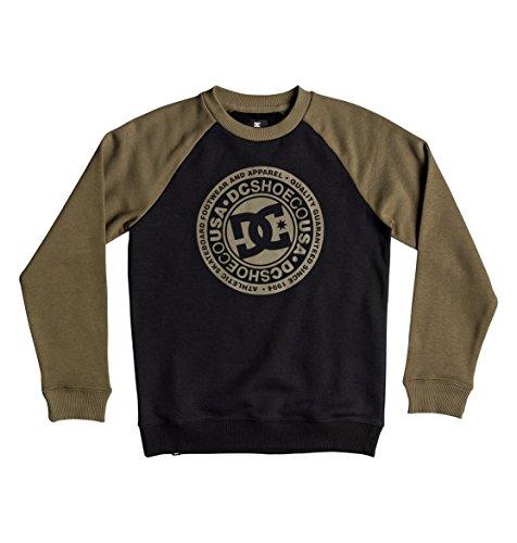 DC Shoes Circle Star Sweatshirt Garçon Burnt Olive/Black FR : XL (Taille Fabricant : XL)
