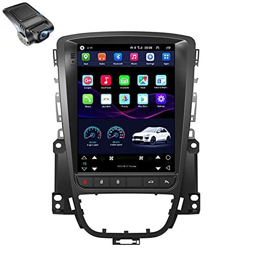 9 'Android 10.0 Para Opel Astra J For Tesla style screen Reproductor De Video Multimedia Para Automóvil Navegación GPS Radio, Control Del Volante, AM, IPS 2.5d P(Size:cuatro nucleos,Color:WiFi 1G+16G)