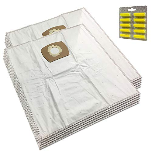 MohMus Set 10 Parfums + 10 Microfibre Sacs Aspirateur pour EINHELL: Duo 1250, RT-VC 1500 WM, INOX 20 A, INOX 1400, AS 1400