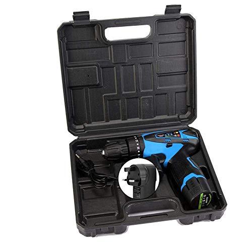 W-SHTAO Hardware Storage Box 12V Electric Rechargeable Cordless Drill Screwdriver Handheld Tool(GB), 12V Electric Rechargeable Cordless Drill Screwdriver Handheld Tool UK Plug 100-240V