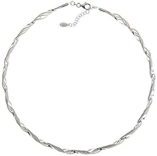 Fashion Omega Halsreifen 4mm - Länge 40cm - echt 925 Silber