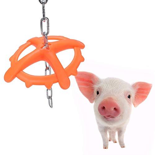 HEEPDD Kunststoff hängen Ferkel Schwein kauen Spielzeug