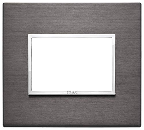 Vimar 21653.03 Placca alluminio 3M, Grigio Lava