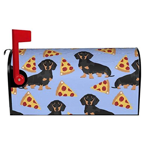 Briefkastenüberzug Doxie Dackel Hunde Haustier Hund Süße Haustiere Dackel Pizza Magnetische Briefkastenwickel Post Box Abdeckung für Garten Hof Dekor Standardgröße 52,8 cm (L) x 45,7 cm (B)