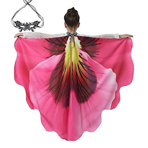 SOMAO Alas de Flores, Mantn de Flores de Gasa Accesorio de Traje de Carnaval Chal con Estampado de Flores Bohemia