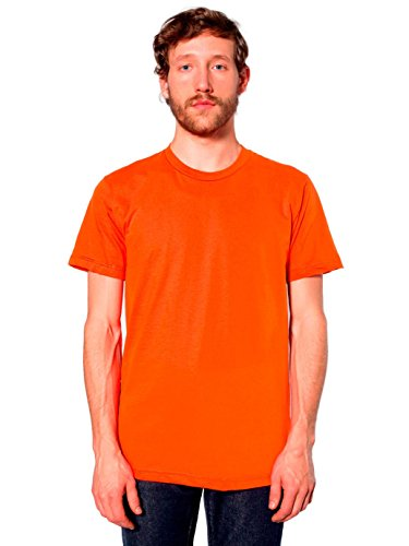 T-shirt à Manches Courtes en Coton Jersey Fin - Orange / 3XL