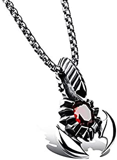 PK-1012SR Fashionable Stainless Steel Necklace with Scorpion Pendent for Men