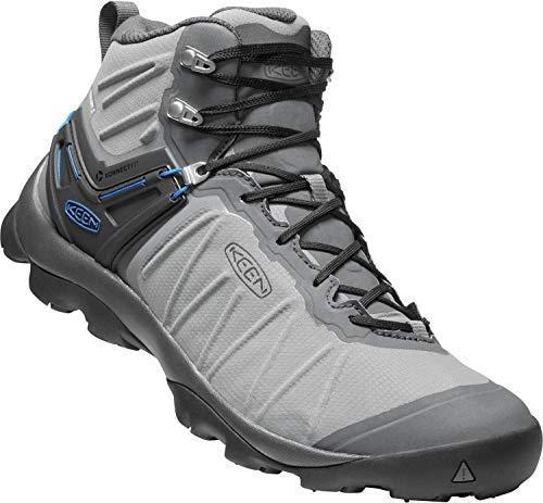 KEEN - Men's Venture Mid Waterproof Hiking Boot, Steel Grey/Magnet, 11 US