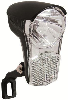 LED-Scheinwerfer--UNI LED-15 LUX für Seitenläuferdynamo-schwarz