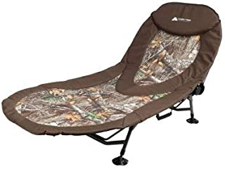 Settle in for a Night Under the Stars With Durable,Comfy and Stylish Ozark Trail Bull Creek Oversized CampCot,With Multi-Adjustable Ratchet Backrest,Easy Fold,Camouflage,Great for Campings and Outdoor