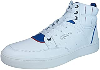 PUMA Alexander McQueen Summer Joust Mens Leather Trainers/Hi Tops - White