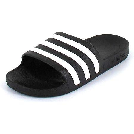 Adidas Unisex Adults' Adilette Aqua Beach & Pool Shoes, Black (Negro 000), 13 UK