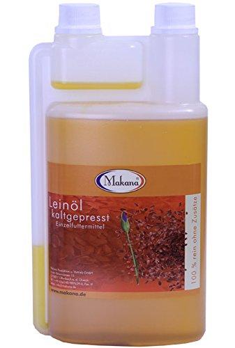 Makana Leinöl für Tiere, kaltgepresst, 1er Pack (1 x 500 ml)