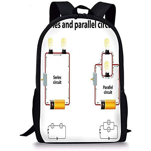 Hui-Shop Mochilas Escolares Educativos, Series y circuitos Paralelos Voltaje Equipo de Ciencia...