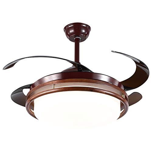Ventiladores para el Techo con Lámpara 42' ventiladores de techo estilo chino con luces LED y control remoto invisible retráctil de la paleta del ventilador de la lámpara Inicio Ventilador de techo do
