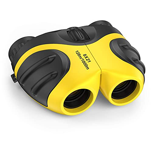 LET'S GO! Boys Toys Age 3-12, DIMY Compact Watreproof Binocular for Kids Boys Outdoor Play Bird Watching Easter Gifts for Boys Age 5-10 Yellow DY3