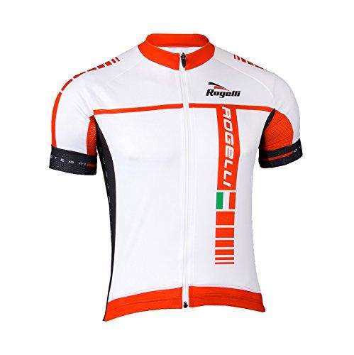 Rogelli Radsport Umbria - Maillot de Ciclismo para Hombre, Color Blanco, Talla...
