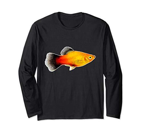 Platy Aquarienfisch I Aquarianer Hobby Aquaristik Langarmshirt