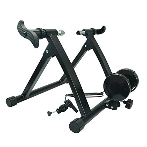 Bicycle trainer stand - portable indoor hometrainer 6-speed magnetische weerstand is ruisonderdrukking, progressieve weerstand,Black