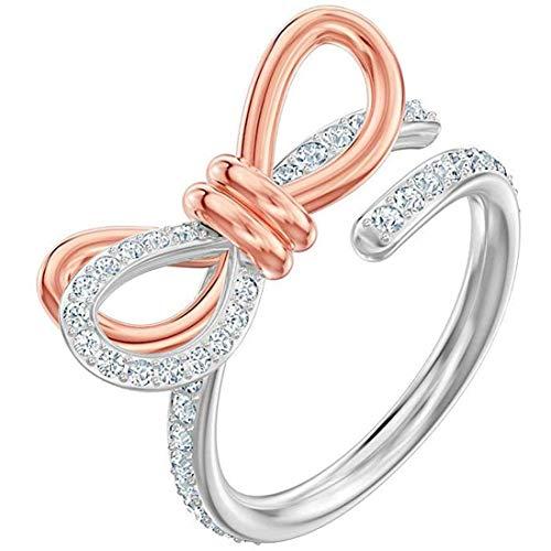 Swarovski Damen-Ringe Edelstahl Kristall '- Ringgröße 55 5440641