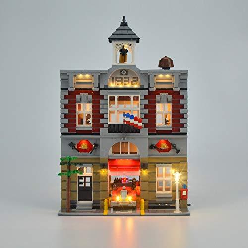 IAMXXYO Kit De Iluminación LED para Estación De Bomberos Compatible con Ladrillos De Construcción Lego Modelo City Street Series 10197,(Juego De Legos No Incluido) Da Vida A Los Modelos