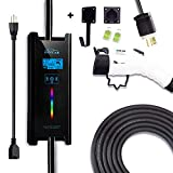 Zencar Level 1-2 EV Charger(100-240V,16A,25ft+3ft) Portable EVSE Home Electric Vehicle Charging Station Compatible with Chevy Volt, Nissan Leaf, Fiat, Ford Fusion(Update Version)