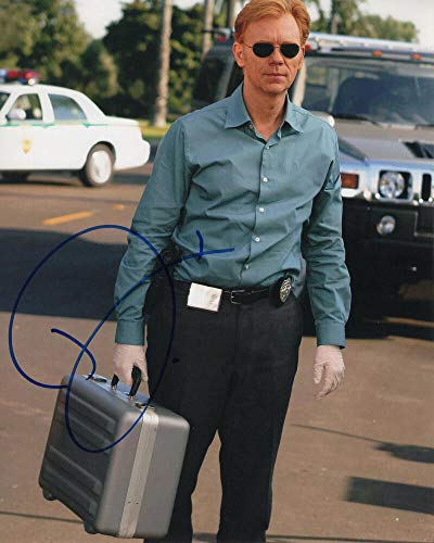 DAVID CARUSO SIGNED AUTOGRAPH 8X10 PHOTO - NYPD BLUE, HORATIO CAINE CSI:MIAMI, CSI, AN OFFICER AND A GENTLEMAN, FIRST BLOOD